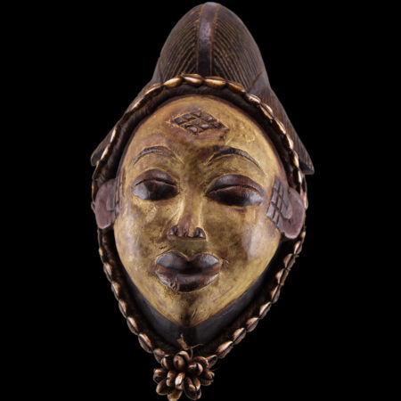 Punu mask from From Gabon.