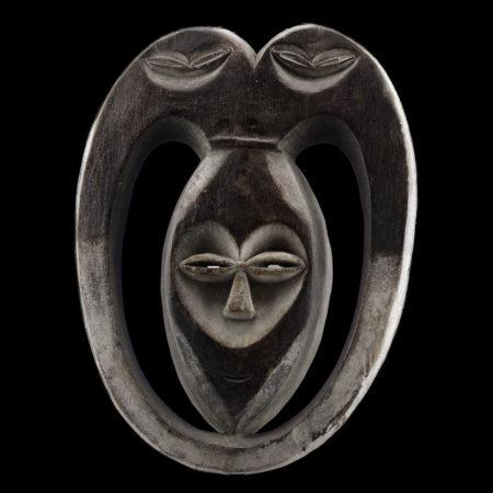 Kwele mask Gabon.